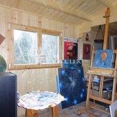 Bungalow in legno 5x4 (44 mm)_porta singola