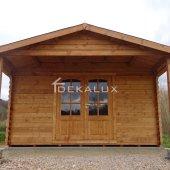 Bungalow in legno 4x5 (44mm)_porta doppia