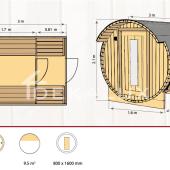 Sauna-botte CAMILLA