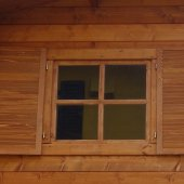 Casetta in legno 2,5x3 (28mm) con porta singola