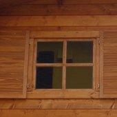 Casetta in legno 3x3 (28mm) con porta singola