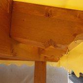 Gazebo in legno lamellare a  4 acque.