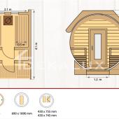 Sauna-botte MARTINA STANDARD