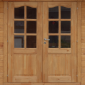 porta doppia in legno