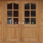 Bungalow in legno 6x3 (44mm) con pareti divisorie