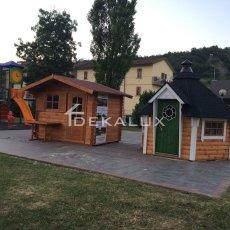 kota bungalow in legno con sauna