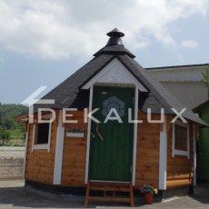 casetta in legno a forma esagonale kota