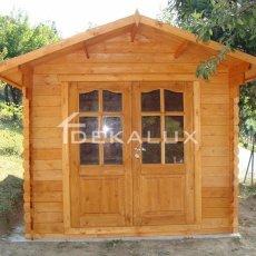casetta in legno da giardino, casetta con porta doppia