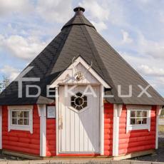 casetta in legno esagonale kota con grill da 12 mq