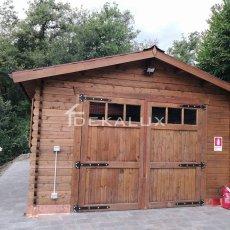 garage in legno per giardino