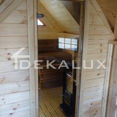 porta divisoria in legno per grill da sauna
