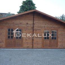vendita bungalow in legno con porta doppia