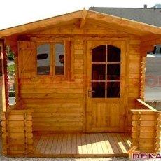 vendita casetta in legno con veranda