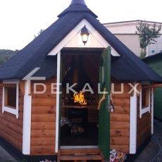 vendita casetta in legno esagonale kota finlandese