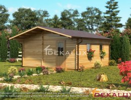 Bungalow in legno 5x5 (44mm)_con pareti divisorie