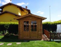 Casetta in legno da giardino 2,2x2,2 44mm_porta doppia