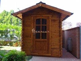 Casetta in legno 1,8x1,8 (28mm) con porta singola