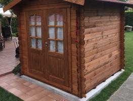 Casetta in legno 2,2x2,2 (28 mm) con porta doppia