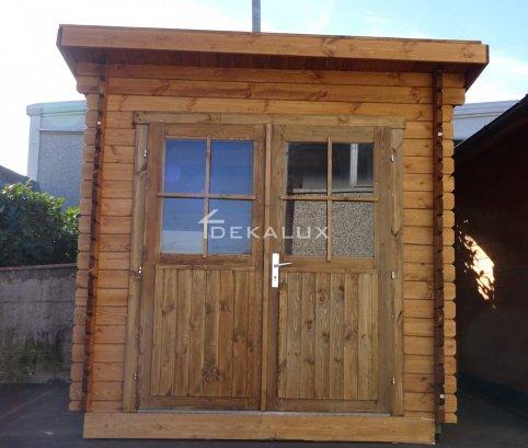 Casetta in legno 3x3 (34mm)_mono falda IMPREGNATA