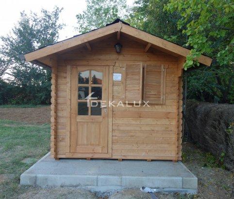 Casetta in legno 2,5x2 (44mm) con porta singola e finestra