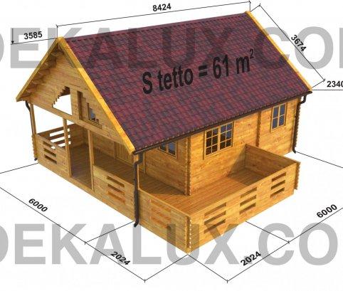 bungalow in legno misure esterne