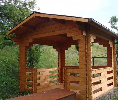 Gazebo in legno_3x3_IMRPEGNATO
