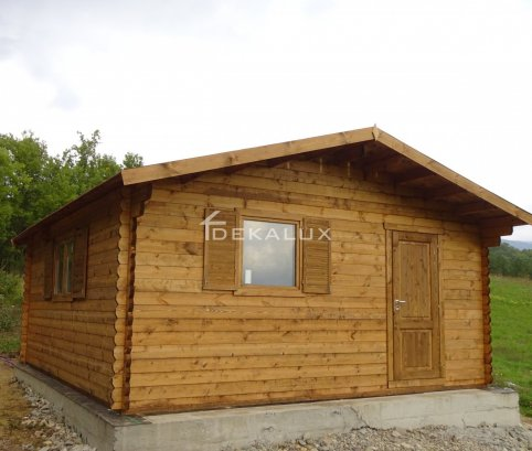 Bungalow in legno 5x6 (44mm) con pareti divisorie