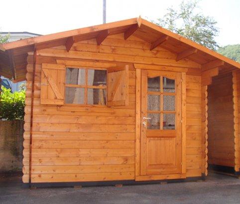 Casetta in legno 3x3 28mm con porta singola for Casetta legno 3x3