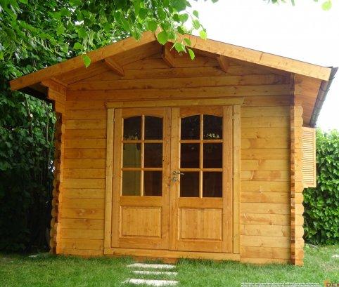 Casetta in legno 3x3 (44 mm) con porta doppia