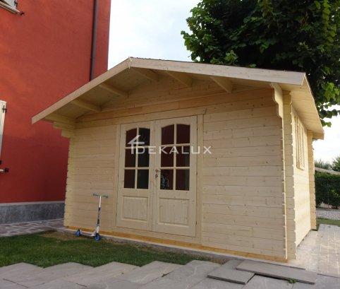 Casetta in legno 4x3 (28mm) con porta doppia