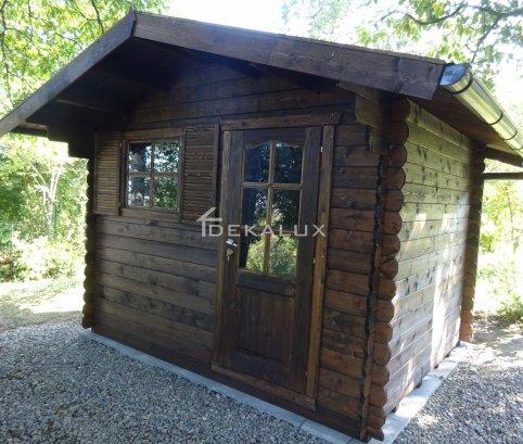Casetta in legno da giardino 3x2,5 44mm_porta singola e finestra