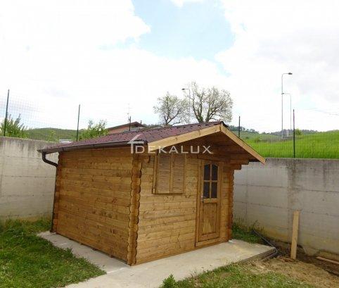 Casetta in legno da giardino 3x3 44mm_porta singola e finestra