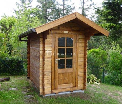Casetta in legno 1,5X2,5(28 mm) con porta singola e finestra