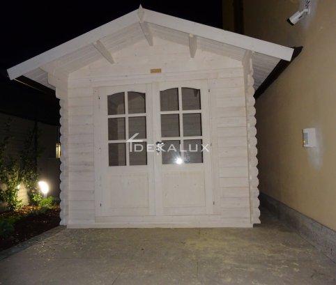 Casetta in legno 2,5x2,5 (28mm) con porta doppia