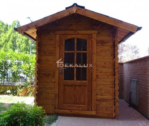 Casetta in legno 1,8x1,8 impregnata castagno