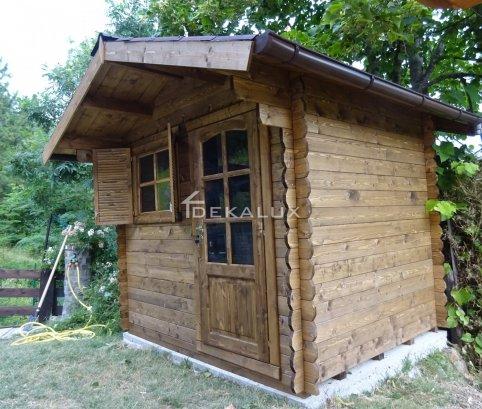 Casetta in legno 2,5x2 (28mm) con porta singola