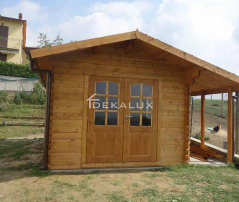 Casetta in legno 3x4 (28mm) con porta doppia