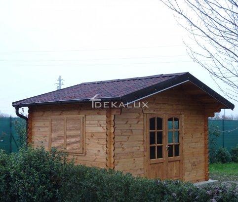 Casetta in legno 4x3 (44 mm) con porta doppia