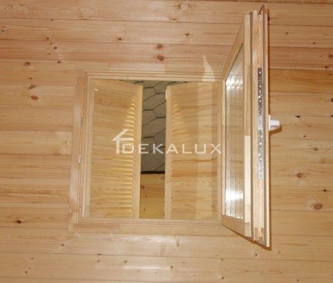 Casetta in legno da giardino 1,5x2,5 44mm_porta singola e finestra laterale