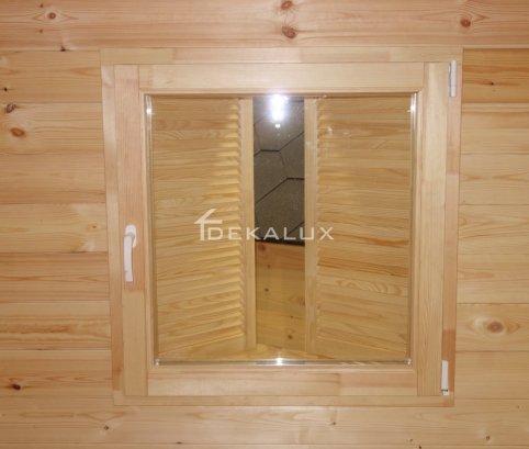 Bungalow in legno 6x6 (44mm) con parete divisoria