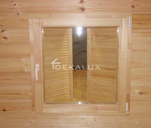 Casetta in legno da giardino 3x2,5 44mm_porta doppia e finestra laterale