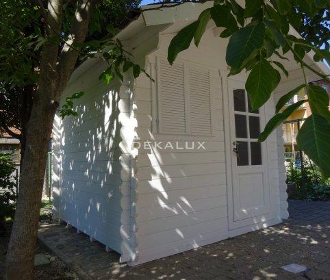 Casetta in legno da giardino 2,5x2 44mm_porta singola e finestra