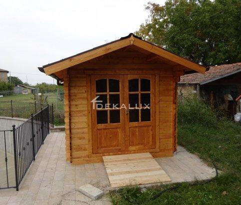 Casetta in legno 2,5x3 (28mm) con porta doppia