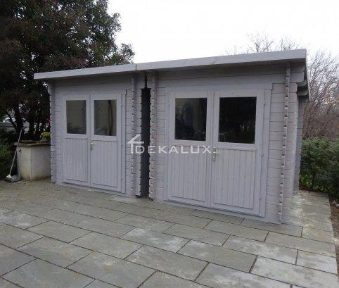 Casetta in legno 2,2x2,2 (34mm)_porta doppia MONOFALDA