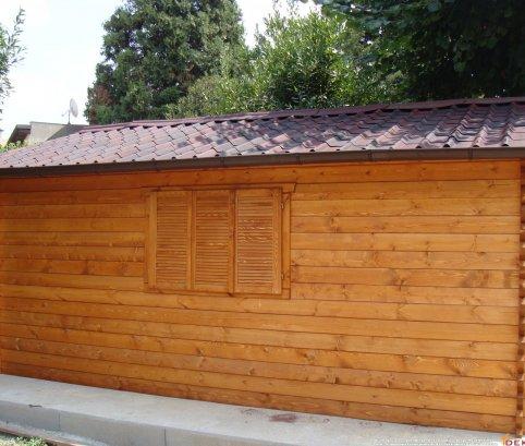 Bungalow in legno 4x5 (44mm)_porta singola