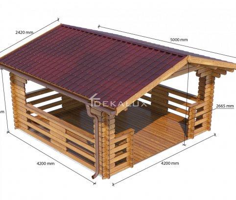 Gazebo in legno 4x4 (44mm)