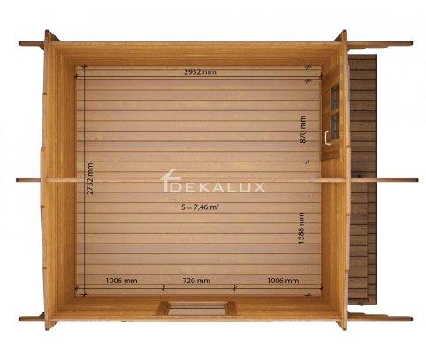 Casetta in legno 3x3 Tommi, spessore 34 mm