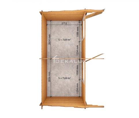 Box doppio per cavalli  6,2x3 (44mm)