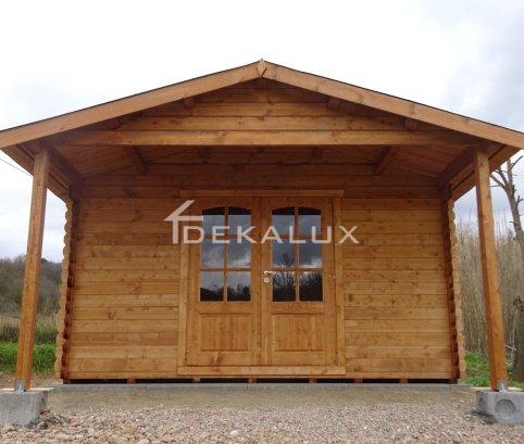 Bungalow in legno 5x4 (44mm) porta doppia