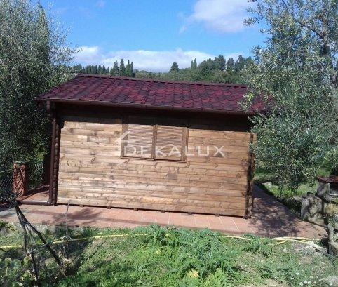 Bungalow in legno 5x5 (44mm)_porta doppia